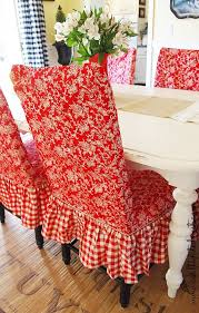 red toile checd dining room chairs dinning room chair coversdining