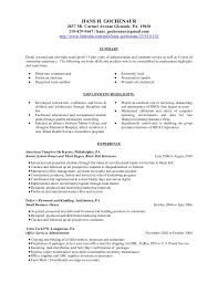 resume for education