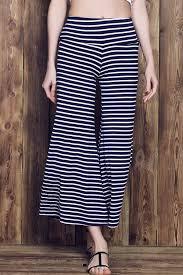 <b>Stripe Wide Leg Yoga</b> Pants - Purplish Blue Style:Fashion Length ...