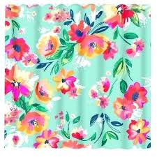 pink and teal shower curtain fl shower curtain mint pink flowers custom monogram personalized bathroom decor