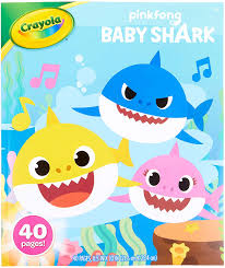 There are 163 baby shark coloring sheet for sale on etsy, and they cost 3,49 $ on average. Amazon Com Crayola Baby Shark Coloring Book Baby Shark Coloring Pages 40 Pages Toys Games