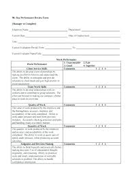 Performance Appraisal Sample Form Employee Performance Appraisal Form Template