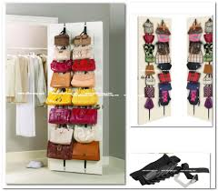 purse hanger door racks organizer storage closet hand bag leather bedr