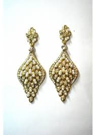 clear stones earrings ce096