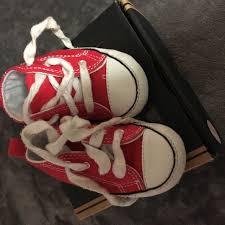 Designer Crib Shoes Uk Baby Boys Red Converse Crib Shoes Uk Size 2 Good Depop
