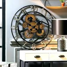 large clock wall large gear clocks wall clock gears moving with decorative metal glass cover large