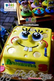 Spongebob Cake For Benezra Maki Cakes Cakes Cookies Sweets