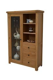 Oak Cabinets Living Room Camberley Oak Glass Display Cabinet Includes Three Glass Shelves