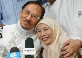 Image result for imej Anwar Ibrahim dan Isteri