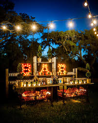 backyard party lighting ideas. i love this idea for a bar marquee lights and patio lighting plus more great outdoor ideas backyard party y