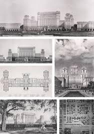 Август Ланин Архитектура и дизайн Дипломный проект Здание гостиницы и планировка прилегающего квартала на проспекте Сталина в Ленинграде 1952