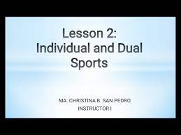 individual and dual sports you