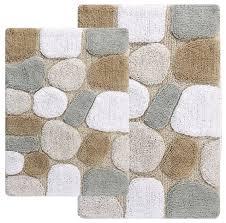 pebbles bath rug 2 piece set spa