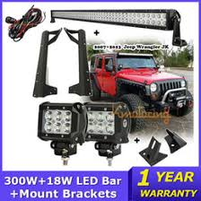 cree led light bar wiring harness suppliers cree led light bar 300w 52 inch combo offroad led work light bar 2pcs 18w cree work lamp mount bracket wiring harness for jeep wrangler 07 15