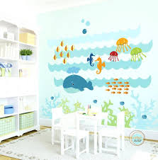 childrens sea life wall decals kids wall decal under the sea extra large nursery artwork