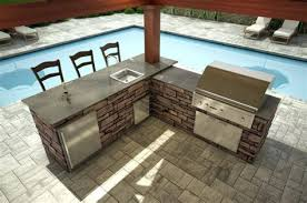 l shaped outdoor bar flagstone bar outdoor kitchen home