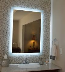 Small bathroom wall mirrors Shelf Image Of Lighted Bathroom Wall Mirror Vanity Rantings Of Shopaholic Lighted Bathroom Wall Mirror Natural Bathroom For Best