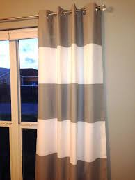 this listing is for one set of 2 lined horizontal striped curtain panels shown in storm gray this listing includes regular white lining rod