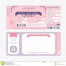 wedding invite template download boarding pass wedding invitation template stock vector
