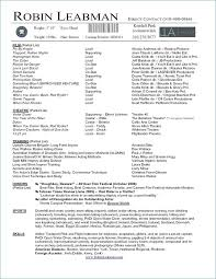 Theatre Resume Template Stunning How To Make A Theatre Resume From Free Acting Resume Template Free