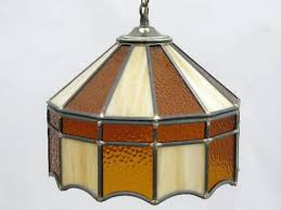 stained glass hanging lamp info regarding vintage decor 15