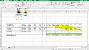 How To Make An S Curve In Excel From Ms Project In Construction