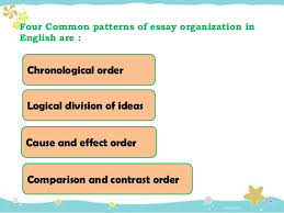 writing an essay pattern of essay patterns of essay organization 16