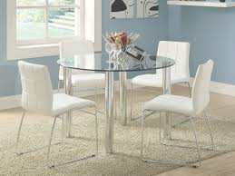round glass dining table and chair set hideaway starrkingschool intended for round glass kitchen table and