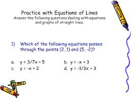 writing equations of parallel and perpendicular lines worksheet notes page 1