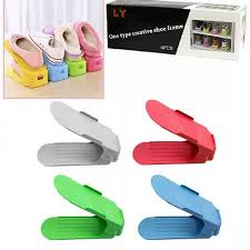 4 Pieces <b>Creative Shoes Rack</b> One Type Frame Slots Space Saver ...