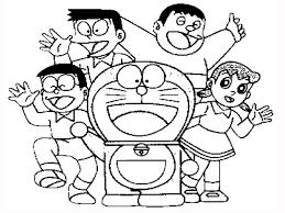 Doraemon y nobita colouring pages page 2