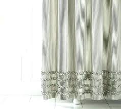 pottery barn black ticking stripe shower curtain details about blue no liner needed ruffle brown