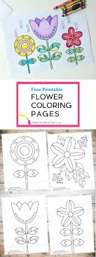 If you live where its cold let's color some spring coloring pages! Spring Flower Coloring Page Printables Onecolorfulday