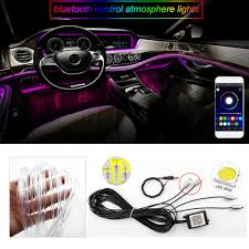 App Controlled Interior Car Lights Us 28 27 25 Off Sound Active Bluetooth App Remote Control Colorful Car Interior Led Rgb Atmosphere Lamp Neon Strip Light Car Styling Decoration In