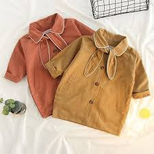 2 3 4 5 6 7 years baby girl trench coat casual cotton kids jackets fashion lapel bow lovely children outwear girls windbreaker spring trench coats trench