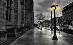 black and white nature wallpaper. Modren Nature Black And White Nature Yellow Walk Street Lights Wallpaper And White Nature Wallpaper T