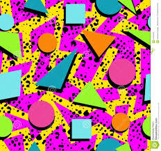 80s Pattern Fascinating Retro 48s Seamless Pattern Background Stock Vector Illustration Of