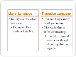 literal language figurative and literal language ppt download