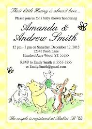 Baby Shower Invitation Backgrounds Free Classy Winnie The Pooh Baby Shower Invitations Template Danielmelo