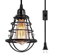 Used pendant lighting Mini Pendant Amazoncom Innoccy Industrial Plug In Pendant Light Vintage Hanging Cage Pendant Lighting E26 E27 Mini Pendant Light Edison Plug In Light Fixture Onoff Amazoncom Amazoncom Innoccy Industrial Plug In Pendant Light Vintage Hanging