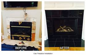 gas fireplace installation before after louisville ky