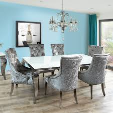 glass dining table. Fadenza Small White Glass Dining Table And 4 Silver Chairs With Knocker Chrome Legs