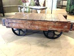 warehouse cart coffee table industrial cart table vintage cart coffee table medium size of coffee industrial