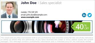 Company Email Signature Email Signature For Company Mail How To Design Business Signatures