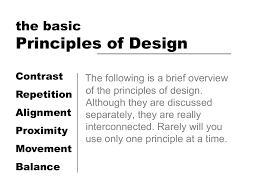 Basic Design Principles Principles Of Design The Basic