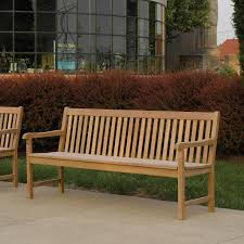 classic 72 inch natural sa patio bench by oxford garden ultimate patio