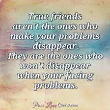 True Friends Quotes Adorable True Friends Aren't The Ones Who Make Your Problems Disappear They