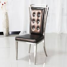 leather restaurant chairs. Neo-classical Post-modern High Back Dining Chairs Grade Stainless Steel Restaurant Pull Leather K