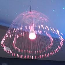 2018 newest outdoor fiber optic decorative lighting chandelier jellyfish pendant lamp decorative light