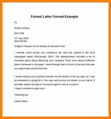 formal letter example 6 formal letter format template actor resumed